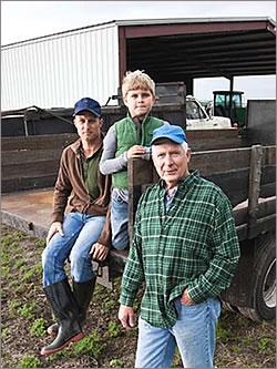 Three generations of farmers