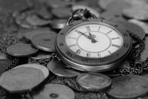 Image a watch and old coins